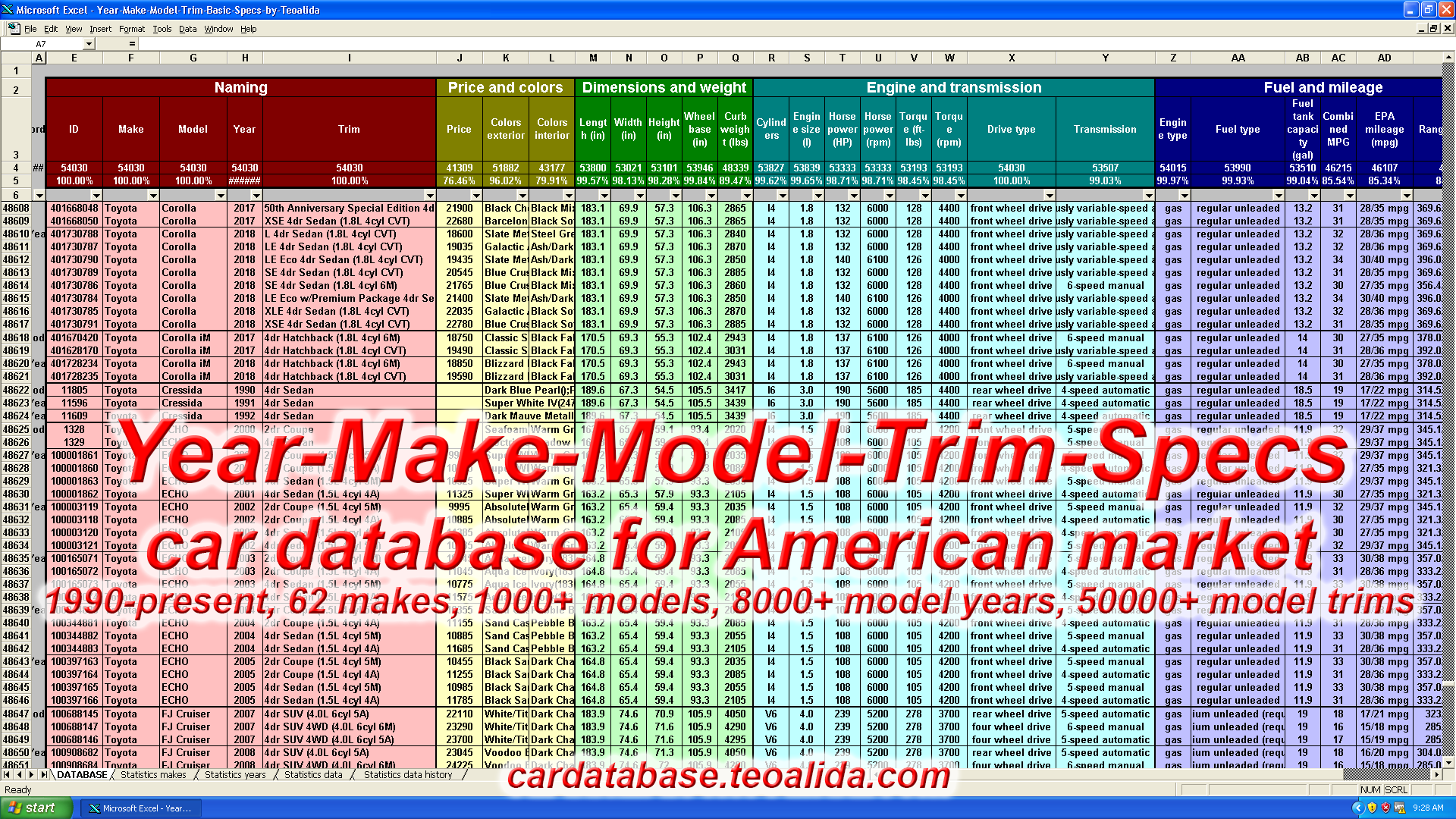 Car Database - make, model, trim, full specifications in ... - photo#21